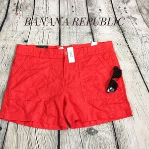 NWT  coral pink shorts by Banana Republic size 14